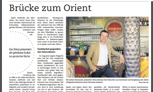 Restaurant Shiraz - Nima Ghamari | Zeitungsbericht