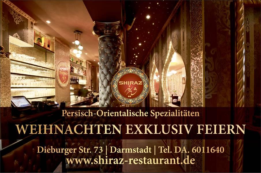 Restaurant Shiraz Darmstadt | Silvester Gala Diner